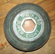 Super Eight Packard Eight Hub Cap == Nice Green And Red