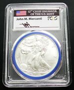 2008-w Reverse Of 07 Burnished Silver Eagle Pcgs Sp70 Mercanti Series Pop 75