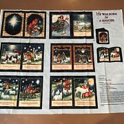 Christmas Born In A Manger Nativity Soft Book Craft Fabric Panel Project Cp42793