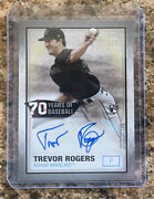 2021 Topps Series 2 70ya-tr Trevor Rogers 70 Years Auto 1/1 One Of One Platinum