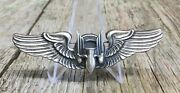 Early Vintage Wwii Era Sterling Sliver Aviation Bomber Lapel Cap Pin Badge
