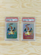 21996 Pokemon Japanese Bandai Carddass Prism Red And Green Charizard 6 Psa 10