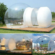3m Double Tunnel Inflatable Bubble Tent For Adults Kids House Camping W/ Blower