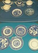 Blue Willow Dishes And Tableware 13 Pc