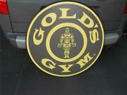 Rare Vintage Limited Early Goldand039s Gym Muscle Man Body Logo Table Top Or Sign