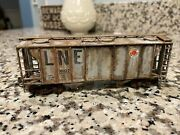 Custom Weathered Lehigh And New England Lne Ho Atlas Ps2 Cement Freight Car