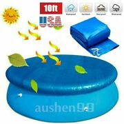 Above Ground Swimming Pool Cover For Winter Round Safety Pe Blue 10ft