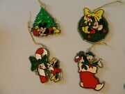Vintage Disney Christmas Hanging Ornaments Mickey Minnie Donald Collectible Prop