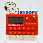 Canon Ms10 1982 Snoopy And Woodstock Math And Game Drills Time Stop Watch Calculator