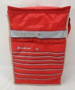 New -vintage Snap On Insulated Cooler Lunchbox Tool Box Red White 17x12x6 C200