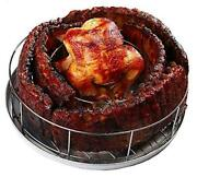 Rib Rings   Rib Rack For Smoking/grillings Holds 5 Ribs And A Whole Chicken