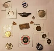 Junk Drawer Silver Cointokenscasino Chipscopperhat Clips Moneyclippins