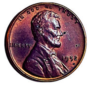 1952 P Lincoln Wheat Penny Cent- Beautiful Toning High Grade Coin 1c