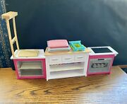 Barbie Ultimate Kitchen Play Set 3-piece W/lights And Sounds Use W/ Play-doh Euc