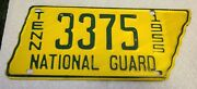 Vintage 1955 Tennessee National Guard License Plate Original Paint 3375