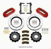 Wilwood Tx6r Front Kit 15.50in Red 2010-up For Ford For F150 6 Lug - 140-13865