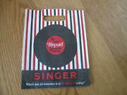 Vintage Record Store 45 Rpm Shopping Bag Singer Records Rare Music Collectible