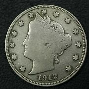 1912 S Liberty V Nickel - Cleaned