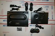 Neo Geo Aes Console Socketed Unibios 4.0 With Cd And Stick Controller Us Seller