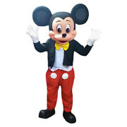 Mickey Mouse Suit Mascot Character Costume Halloween Party Event Cosplay
