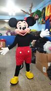 Mickey Mouse Red Short Mascot Character Costume Halloween Party Event Cosplay