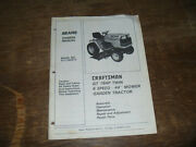Sears Craftsman 917.255914 Gt Twin Tractor Operator Maintenance Parts Manual