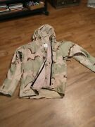 Us Military Army Cold Weather Tri Desert Camouflage Parka Jacket Large Regular