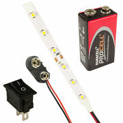 Rc Helicopter Plane Led Strip Lights Switch + Battery Kit All Colours / Lengths