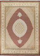Vegetable Dye Geometric Traditional Oriental Area Rug Hand-knotted Wool 8x10 Ft