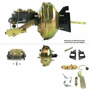 1973-87 Chevy Truck F.wall Mount Power 11 Dual Brake Booster Kit Ls Disc/drum