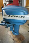 Being Parted Out Evinrude Fastwin 15hp 15014 Parts 1955 -read-
