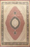 Geometric Traditional Oriental Area Rug Medallion Hand-knotted Wool Carpet 10x14