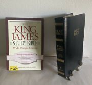 Nelson 495 King James Versionstudy Bible Wide Margin Edition Bonded Leather