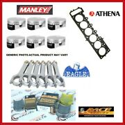 Wiseco 86.00mm Pistons + H-beam Rod + Head Gasket + Bearings For Bmw S50b30 Euro