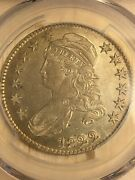 1822 Capped Bust Half Dollar Pcgs Au Detail Gold Shield Champagne-gold Toning