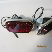 1940 Chevy Car Tail Lights Stainless Bezel Glass Lens One Pair New.