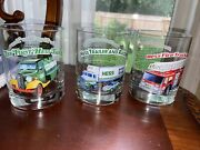 3 Hess Truck Series 15 Oz Glasses. 1982 1986 And 1992 Excellent Condition