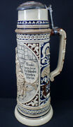 Original Thewalt 1205 Two-color 4 L Beer Stein Lovers 17 Tall