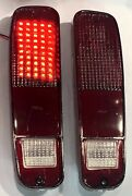 Ford Truck F-150 250 350 73-79 Dark Red Tail Lights Built-in Full Led Board New