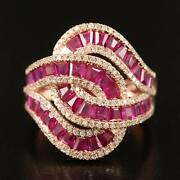 6500 / New / Effy Royale Ring / 4 Ct Diamond And Ruby / 14k Gold