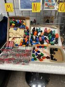 Vintage Christmas Light Bulbs And Accessories Nalco On-a-lite Ge Lamp Huge Lot