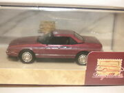Glm Stamp Models Cadillac Allante 1987-1993 In Metallic Maroon Limited Edition