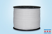 Electric Fence Polytape 1 1/2 X 660' White- Spliced Rolls Lot Of 4 Rolls