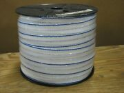 Electric Fence Polytape 2 X 660' Blue/white- Spliced Rolls Lot Of 4 Rolls