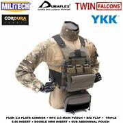 Plate Carrier With Pouches Tactical Body Armor Cummerband Molle Mag Edc Carrier