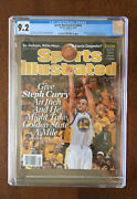 2013 Sports Illustrated Steph Curry First Cover News Stand No Label Cgc 9.2