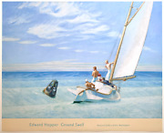 Edward Hopper Vintage Offset Lithograph Print Museum Poster Ground Swell 1939