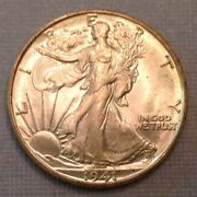 - 1941 S Walking Liberty Half Dollar 50 Cents Anacs Ms 65 - Exceptional Strike