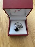 Baccarat - Bypass Cocktail Ring - Black And Clear Crystals - Uk Size P / Us 7.5