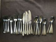 Hoffritz Back Bay Glossy Round Tip Stainless 18/10 Flatware 30 Pcs. 5 Place Sets